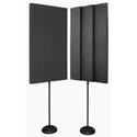 Auralex PROMAX-V2CHA Acoustic Panels with Floor Stands - Pair Charcoal