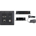 Aurora DXW-2E-S2-B 2 Input HDBaseT Wall Plate (VGA / HDMI / LAN) - 330 Ft/600 Ft