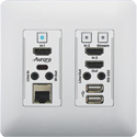 Aurora VLX-TCW2H-C 4K IP Audio/Video Distribution Wall Plate - White