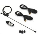 Avlex HSP-49BK Omni-Directional Miniature Condenser Single-Ear Headset Microphone - Premium Element & Mini-XLR - Black