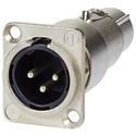 AVP UMNA3FDM XLR Male-Female Feedthru Adapter for Panel Mount