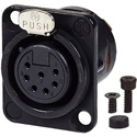 AVP UMNC7FD-L-B-1 Maxxum Neutrik NC3FD-L-B-1 7 Pole Fem Black/Gold Adapter Plate(s) and/or Hardware MIS Color-Code