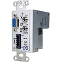 Broadata Link Bridge VGA w/Audio & Data Over 1 SC Multimode Fiber Tx/Rx Kit Wallplate