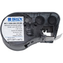 Brady MC1-1000-595-OR-BK BMP51 BMP53 BMP41 Indoor/Outdoor Vinyl Labels - 1 Inch x 25 Foot