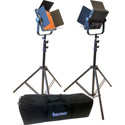 Bescor AL-576K LED Studio 2-Light Kit