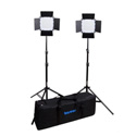 Bescor FP-576K Bi-Color Wirelessly Controlled LED Studio 2-Light Kit