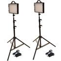 Bescor LED-200K Dimmable Studio Light Kit