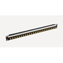 Bittree BH-B124A1B12 12GHz 4K/8K Single-Link BNC Coaxial Bulkhead Patch Panel with Designation Strip - 1x24 1RU