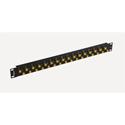 Bittree BH-B132A0B12 12GHz 4K/8K Single-Link BNC Coaxial Bulkhead High Density Patch Panel - 1x32 1RU