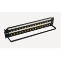 Bittree BH-B216A2B12 12GHz 4K/8K Single-Link BNC Coaxial Bulkhead Patch Panel with Designation Strip - 2x16 2RU
