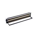 Bittree BH-B224A2B12 12GHz 4K/8K Single-Link BNC Coaxial Bulkhead Patch Panel with Designation Strip - 2x24 2RU