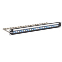 Bittree DSKP124B-LC Flush Mount 1 Row of 24 Couplers 1 RU Duplex LC to LC UPC 1 Designation Strip - Blue
