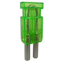 Bittree LPMK7505 12GHz Mini-WECO 75-Ohm Video Patchbay Looping Plugs - Green