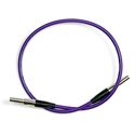 Bittree VPCM4807-75 Mini-WECO Video Patch Cable 75 Ohm - Purple - 48 Inch