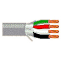 Belden 5302FE 4 Conductor 18 AWG Stranded Security and Commercial Audio Cable - 500 Feet - Gray