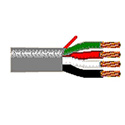 Belden 5302UE Security & Commercial Audio Cable - Riser-CMR - 4 Conductor 18 AWG - 1000 Foot