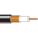 Belden RG59/22 Analog Coaxial Cable - Black - 1000 Foot