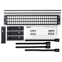 Belden AX103116 KeyConnect Modular Blank Keystone Patch Panel - 72-Port x 2RU - Black (Empty)