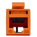 Belden RVAMJKUTN-S1 REVConnect 10GX Category 6A Connectors - Orange