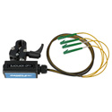 Camplex BLACKJACK-OP11 opticalCON QUAD APC to Four (4) LC/APC Breakout Adapter - Singlemode with Clamp