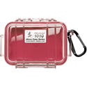 Pelican - 1010 Micro Case - Clear Case - Red Liner