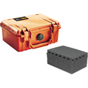 Pelican 1150 Small Case with Foam - Orange