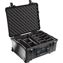 Pelican 1560 Case with Padded Dividers Black