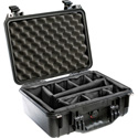 Pelican 1450 Case with Padded Dividers 16inX13inX7in Black