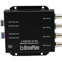BroaMan REPEAT8-NANO-4OUT-3G Converter for Single Mode Fiber to 4x 3G-SDI