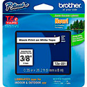 Brother TZe221 0.35 in x 26.2 ft (9mm x 8m) Black on White