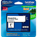 Brother TZe251 0.94in x 26.2 ft (24mm x 8 m) Black on White