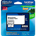 Brother TZe261 1.4 in x 26.2 ft ( 36 mm x 8 m) Black on White