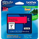 Brother TZe451 0.94in x 26.2 ft (24mm x 8 m) Black on Red