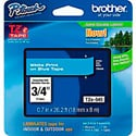 Brother TZe545 0.7 in x 26.2 ft (18 mm x 8 m) White on Blue