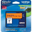 Brother TZeB51 0.94in x 16.4 ft (24mm x 5 m) Black on Fluorescent Orange