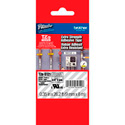 Brother TZeS121 0.35 in x 26.2 ft (9mm x 8m) Black on Clear Extra-Strength