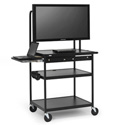 Bretford FP60MUL-E5BK Flat Panel Cart with Laptop Shelf