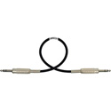 Belden Star-Quad Audio Cable 1/4-TRS Balanced Male to Male 3 Foot - Black