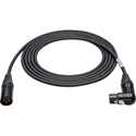 Belden Star-Quad Mic Cable Black & Gold  XLR Male to Right Angle Female 10 Foot