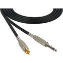 Sescom BSC3SR Audio Cable Belden Star-Quad 1/4 TS Male to RCA Male Black - 3 Foot