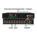 Blonder Tongue HDE-8C-QAM/IP High Definition Encoder - 8 Component/8 Composite/1 Spare Input