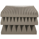 16x16 UL94 Blade Tile Sound Absorption Acoustic Panel - 3 Inch Thick Gray