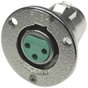 Switchcraft C3F 3-Pin Female XLR Panel/Chassis Mount Connector