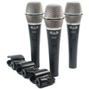 CAD Audio D32X3 3 Pack of D32 Supercardioid Dynamic Vocal Microphone with on/off switch