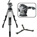 Cartoni Z101 Laser Head 1 Stage 3 Tube Ultra Light Tripod - Mid-Level Spreader