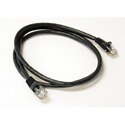 350MHz UTP CAT5e Patch Cable 7 Foot Black