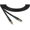 Premium BNC to RCA Video Cable 18 inch Black