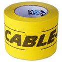 Pro Tape 6-Inch x 30 Yard Yellow/Black Cable-Path Tape
