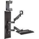 Chief KWT110B All-in-One Monitor Workstation Wall Mount - Black