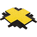 Checkers YJ5X-125 5-Channel Heavy Duty Yellow Jacket 4-Way Cross - Yellow L